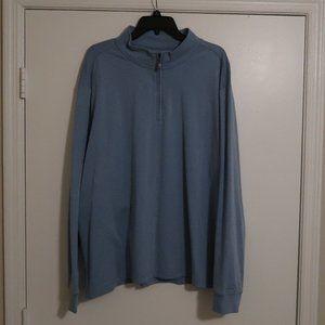 Light Blue XXL Shirt jacket 1/4 zip